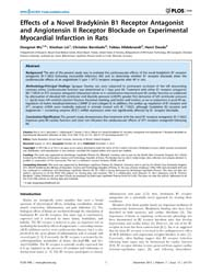 Plos One : Effects of a Novel Bradykinin... by Madeddu, Paolo