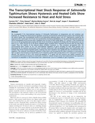 Plos One : the Transcriptional Heat Shoc... by Sanz, Yolanda