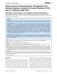 Plos One : Whole Genome Characterization... by Woo, Patrick, C. Y.