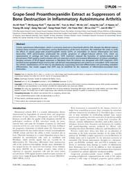 Plos One : Grape-seed Proanthocyanidin E... by Heymann, Dominique