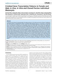 Plos One : X-linked Gene Transcription P... by (Cindy) Tian, Xiuhcun