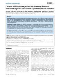 Plos One : Chronic Schistosoma Japonicum... by Mulvenna, Jason