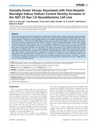 Plos One : Varicella-zoster Viruses Asso... by Glorioso, Joseph, Charles