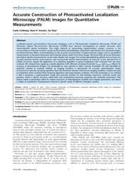 Plos One : Accurate Construction of Phot... by Sauer, Markus