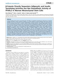Plos One : B-catenin Directly Sequesters... by Shi, Xing-ming
