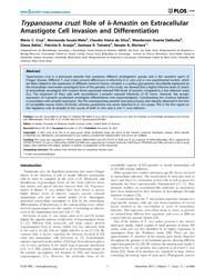 Plos One : Trypanosoma Cruzi ; Role of D... by Blader, Ira