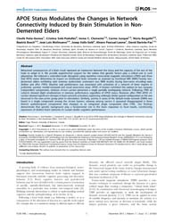 Plos One : Apoe Status Modulates the Cha... by Theoret, Hugo
