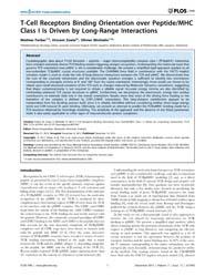 Plos One : T-cell Receptors Binding Orie... by Ranganathan, Shoba