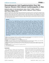 Plos One : Docosahexaenoic Acid Suppleme... by Katare, Rajesh, Gopalrao
