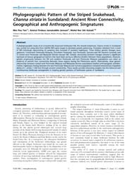 Plos One : Phylogeographic Pattern of th... by Salamin, Nicolas