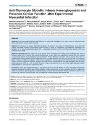 Plos One : Anti-thymocyte Globulin Induc... by Merx, Marc W.