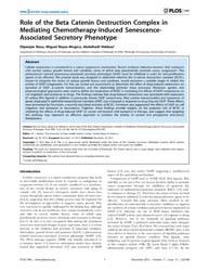 Plos One : Role of the Beta Catenin Dest... by Marian, Ali J.