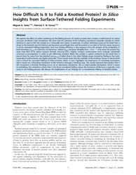 Plos One : How Difficult is it to Fold a... by Zhang, Yang