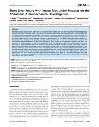 Plos One : Blunt Liver Injury with Intac... by Kellermayer, Miklos, S.