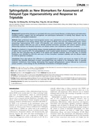 Plos One : Sphingolipids as New Biomarke... by Siskind, Leah J.