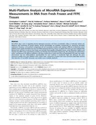 Plos One : Multi-platform Analysis of Mi... by Dadras, Soheil, S.