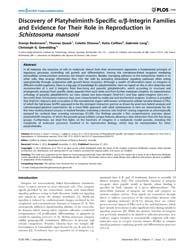Plos One : Discovery of Platyhelminth-sp... by Gobert, Geoffrey N.