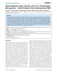 Plos One : Altered Baseline Brain Activi... by Zang, Yu-feng