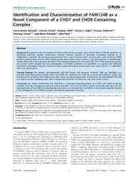 Plos One : Identification and Characteri... by Englert, Christoph