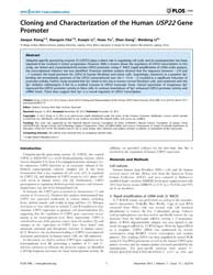 Plos One : Cloning and Characterization ... by Semsey, Szabolcs
