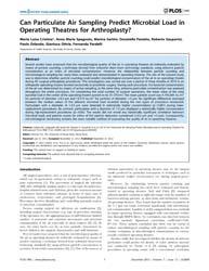 Plos One : Can Particulate Air Sampling ... by Tse, Herman