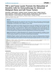 Plos One : Tnf-a and Tumor Lysate Promot... by Ucla, Isaac, Yang