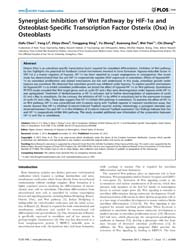 Plos One : Synergistic Inhibition of Wnt... by Samant, Rajeev