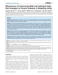 Plos One : Effectiveness of Community-wi... by Barengo, Noel, Christopher
