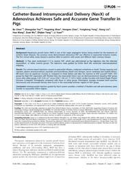 Plos One : Catheter-based Intramyocardia... by Zheng, Yi