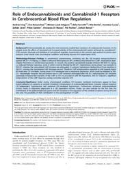 Plos One : Role of Endocannabinoids and ... by Arai, Ken