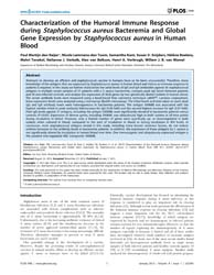 Plos One : Characterization of the Humor... by Sun, Jun