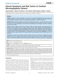 Plos One : Clinical Symptoms and Risk Fa... by Minnerup, Jens