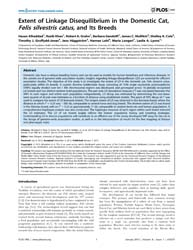 Plos One : Extent of Linkage Disequilibr... by Ellegren, Hans