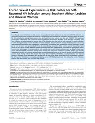Plos One : Forced Sexual Experiences as ... by Sullivan, Patrick, S.