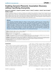 Plos One : Enabling Genomic-phenomic Ass... by Shomron, Noam