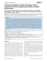 Plos One : a Clinical Evaluation of Stat... by Infante-duarte, Carmen