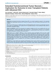 Plos One : Extended Postinterventional T... by Man, Kwan
