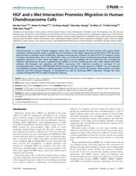 Plos One : Hgf and C-met Interaction Pro... by Samant, Rajeev