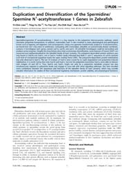 Plos One : Duplication and Diversificati... by Korzh, Vladimir