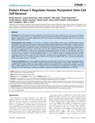 Plos One : Protein Kinase C Regulates Hu... by Akagi, Tadayuki