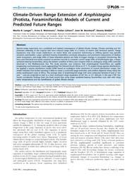 Plos One : Climate-driven Range Extensio... by López-garcía, Purificación