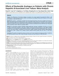 Plos One : Effects of Nucleoside Analogu... by Ahn, Sang-hoon