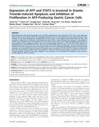 Plos One : Expression of Afp and Stat3 i... by Avila, Matias, A.