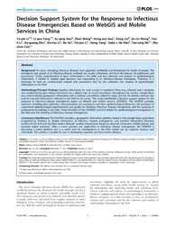 Plos One : Decision Support System for t... by Colizza, Vittoria