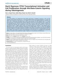 Plos One : Dact2 Represses Pitx2 Transcr... by Liebner, Stefan