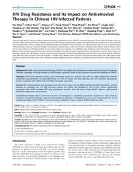 Plos One : Hiv Drug Resistance and Its I... by Tripathy, Srikanth, Prasad