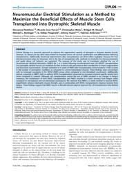 Plos One : Neuromuscular Electrical Stim... by Musaro, Antonio