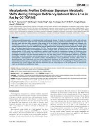 Plos One : Metabolomic Profiles Delineat... by Chowen, Julie, A.