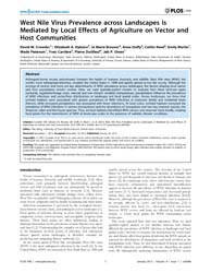 Plos One : West Nile Virus Prevalence Ac... by Wang, Tian