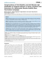 Plos One : Seroprevalence of Anti-rubell... by Borrow, Ray